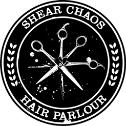 Shear Chaos Salon & Barbering Co. Badge